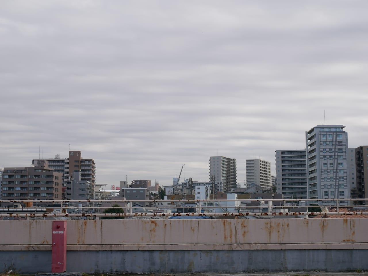 イオン武蔵狭山店の屋上からの景色