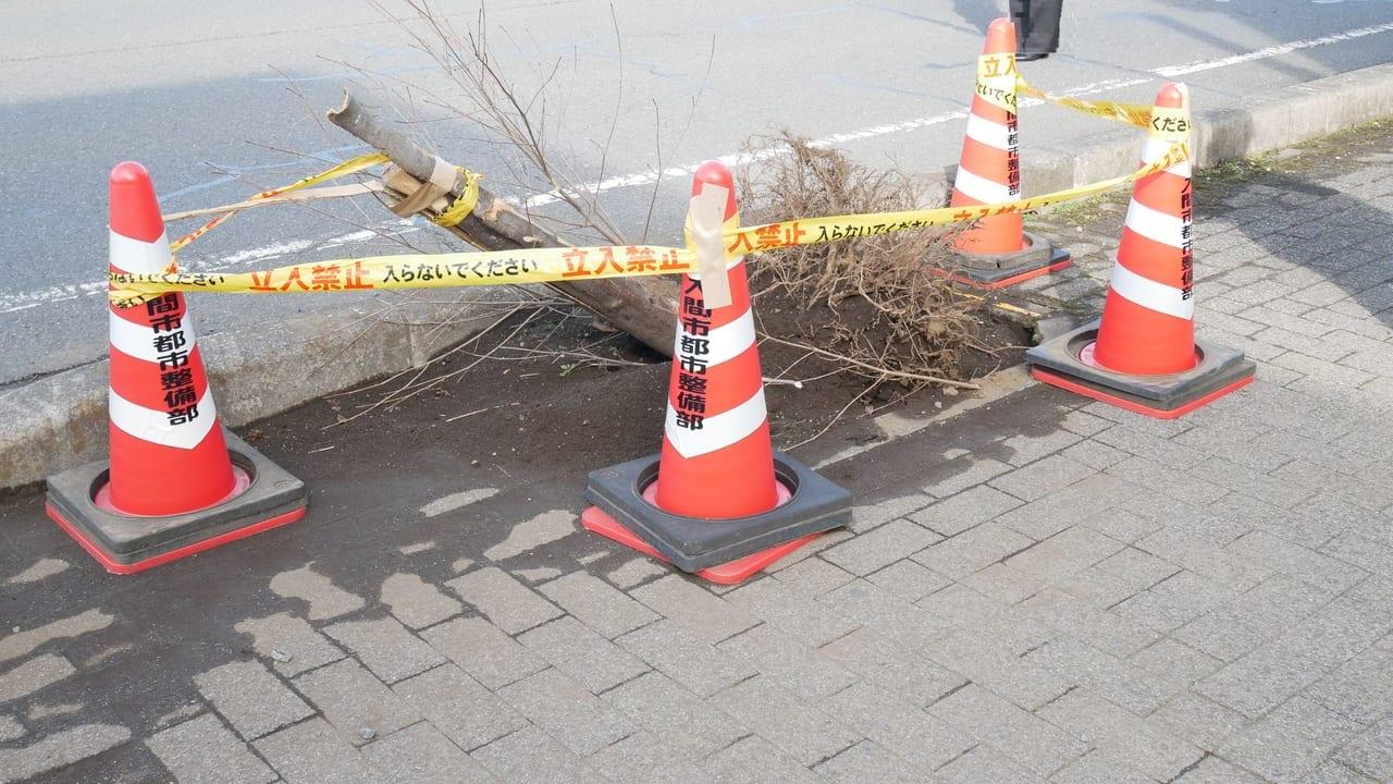 入間市下藤沢の車が乗り捨てられていた場所