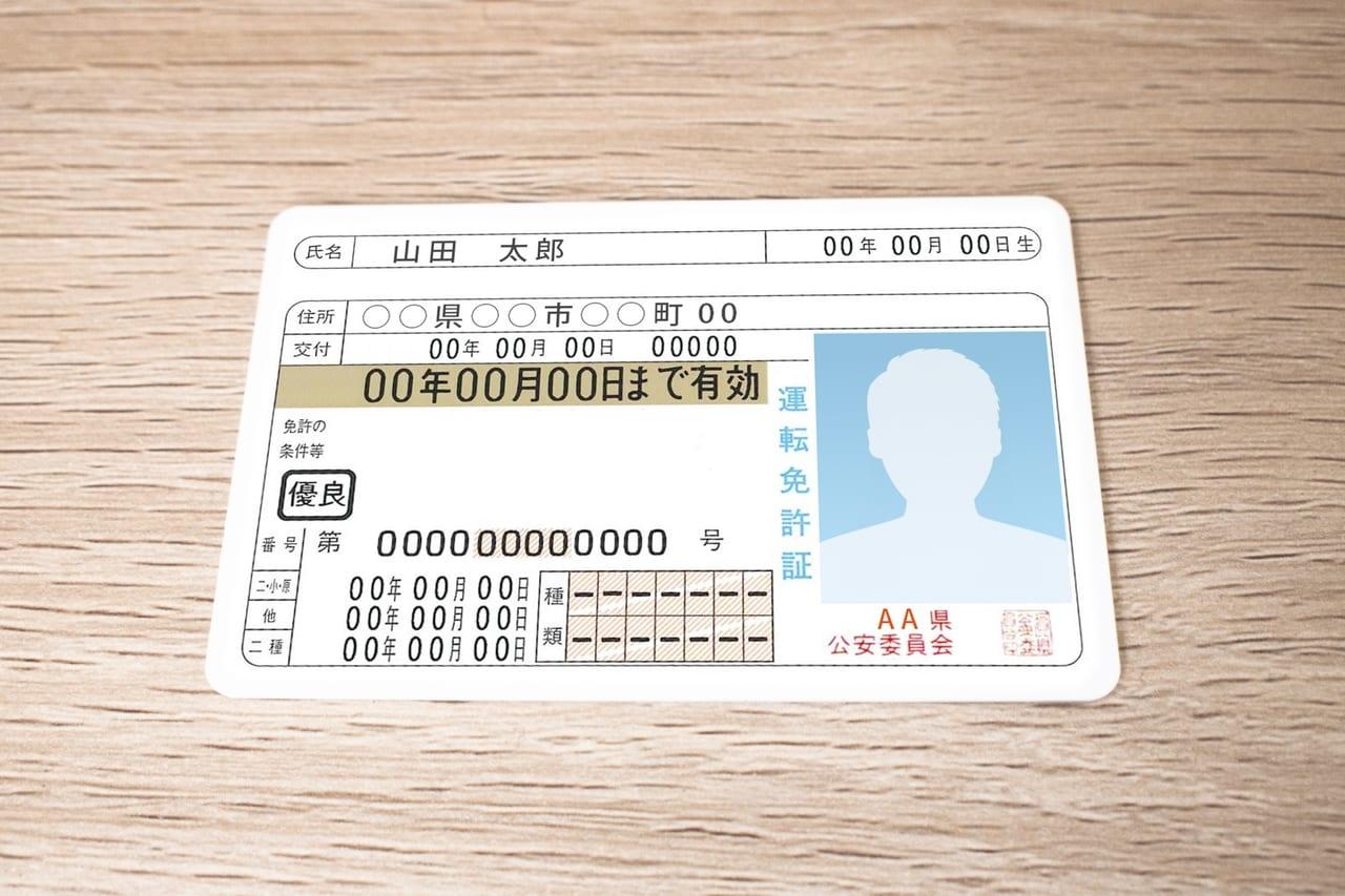 免許証のイメージ画像